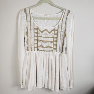 Free People Tunic Style Scoop Neck with Gold